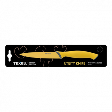 TEXELL univerzalni kuhinjski nož TNT-U112 (Žuti)  Univerzalni kuhinjski nož, 12.7 cm, Nerđajući čelik/Termoplastična guma, Žuta