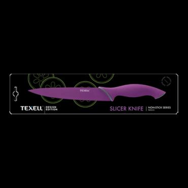 TEXELL slicer nož TNT-S111 (Ljubičasti)  Slicer nož, 20.4 cm, Nerđajući čelik/Termoplastična guma, Ljubičasta