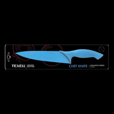 TEXELL chef kuvarski nož TNT-C109 (Plavi)  Chef (Kuvarski) nož, 20.4 cm, Nerđajući čelik/Termoplastična guma, Plava