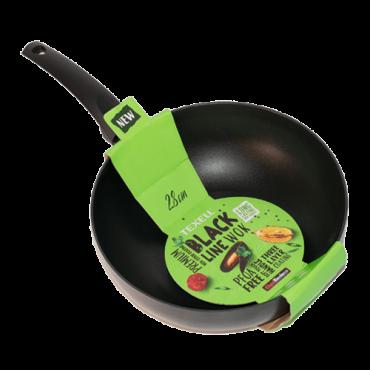 TEXELL wok tiganj Black Line TPBL-W28 (Crni)  28cm, Crna