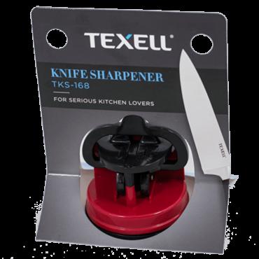 TEXELL oštrač za noževe TKS-168 (Crna/Crvena)  Oštrač za noževe, Volfram/ABS platsika, Crna/Crvena