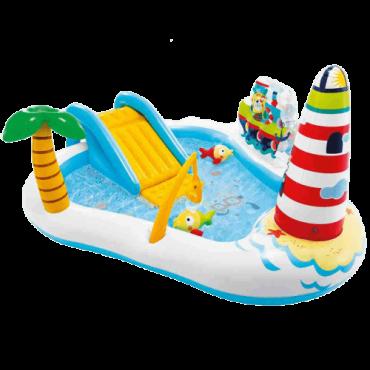 INTEX Bazen Fun Play Center Fishing 55768 57162 (Višebojni)  188 x 99 x 218 cm, 182 l, PVC, Višebojna