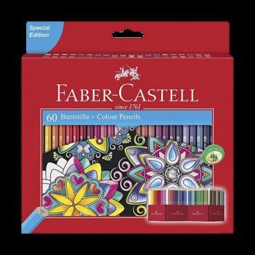 Bojice FABER CASTELL bojice set od 60 boja - 111260  Šestougaona drška, 60 kom