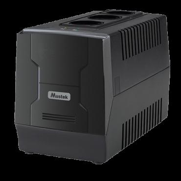 Korektor napona MUSTEK Korektor napona PowerMate 1000 Schuko (crni)  1000VA/600W, 183-285 VAC, 220V +6%/-10%, 50 Hz