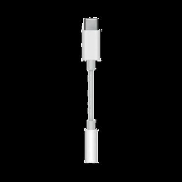 APPLE USB-C - 3.5 mm adapter  Adapter, 3.5 mm, 3.5 mm, Bela