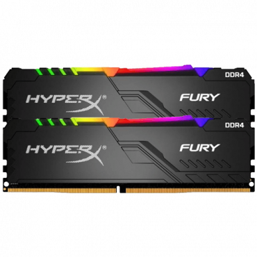 Memorija KINGSTON HyperX FURY RGB 32GB Kit (2x16GB) DDR4 3200MHz CL16 - HX432C16FB3AK2/32  32GB kit, DDR4, 3200Mhz, CL16