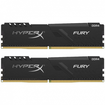 Memorija HYPERX Fury DDR4 16GB (2 x 8GB) 2666MHz CL16 - HX426C16FB3K2/16  16GB kit, DDR4, 2666Mhz, CL16