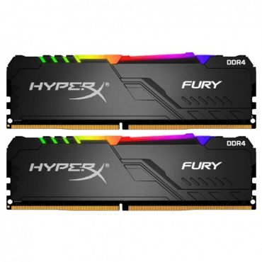 Memorija KINGSTON HyperX FURY RGB 16GB (2 x 8GB) DDR4 3200MHz CL16 - HX432C16FB3AK2/16  16GB kit, DDR4, 3200Mhz, CL16