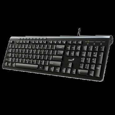 GENIUS Žična tastatura SlimStar 230 (Crna)  USB, Membranski tasteri, SRB (YU)