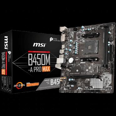 Matična ploča MSI B450M-A PRO MAX  AMD, AMD® AM4, AMD® B450, Micro ATX