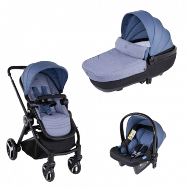 CHICCO Set kolica, auto sedište i nosiljka Best fried  - A038016  Trio sistemi, Plava, Od 6 do 36 meseci