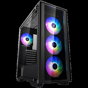 DEEPCOOL Kućište MATREXX 50 ADD-RGB 4F - DP-ATX-MATREXX50-AR-4F-NE  Midi Tower, Micro-ATX, Mini-ITX, ATX, E-ATX , Bez napajanja, Crna