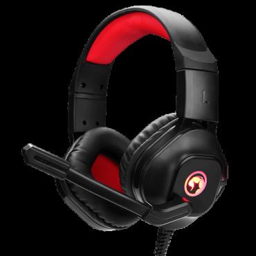 MARVO Gejmerske slušalice SCORPION HG8929 (Crne/Crvene)  3.5mm (četvoropolni) + adapter 2 x 3.5mm + USB, Stereo, 20Hz - 20kHz, 116dB
