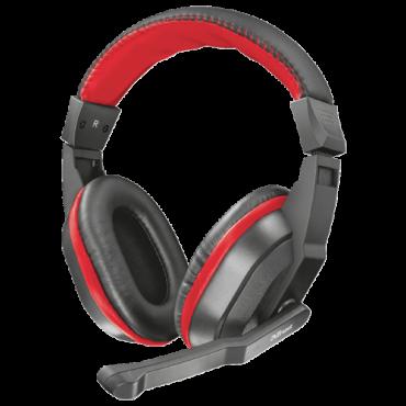 TRUST Gejmerske slušalice ZIVA (Crne/Crvene)  3.5mm (četvoropolni) + adapter 2 x 3.5mm, Stereo, 20Hz - 20kHz, 105dB