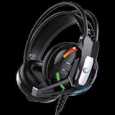 RAMPAGE Gejmerske slušalice RM-K22 CHIEF-X (Crne)  USB, Virtual Surround 7.1, 20Hz - 20kHz, 50mm
