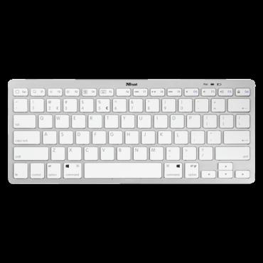 TRUST Bežična tastatura NADO (Bela)  Bluetooth, Membranski tasteri, EN (US), Alkalna baterija