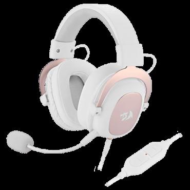 REDRAGON Gejmerske slušalice H510 ZEUS (Bele)  3.5mm (četvoropolni) + adapter 2 x 3.5mm + USB, Virtual Surround 7.1, 20Hz - 20kHz, 110dB