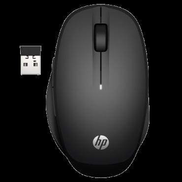 HP Bežični miš Dual Mode 300 (Crni) 6CR71AA  USB nano prijemnik / Bluetooth, Optički, 3600 DPI, Alkalna baterija