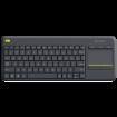LOGITECH Bežična tastatura K400 PLUS (Crna) 920-007145  USB nano prijemnik, Membranski tasteri, EN (US), Alkalna baterija