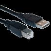 LINKOM FAST ASIA USB kabl za štampač, 1.8m (Crni),  USB 2.0 - do 480 Mbps, USB-A, USB-B, Okrugli