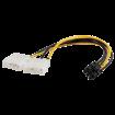 FAST ASIA Adapter naponski PCI-E 6pin - 2xMolex 4pin  Naponski kabl, 2x Molex, 6pin PCI Ex