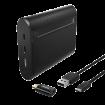 HAMA X10 Power bank / eksterna baterija + Tip C adapter  10400 mAh, 1 x Micro USB, 1 x USB Tip C, 1 x USB A, Crna