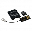 Memorijska kartica KINGSTON Mobility Kit MicroSDXC 64GB Cl10 + SD adapter + USB čitač - MBLY10G2/64GB  microSD, 64GB, 10