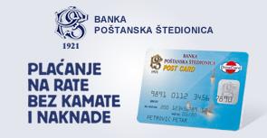 Banka poštanska štedionica - Dina na rate